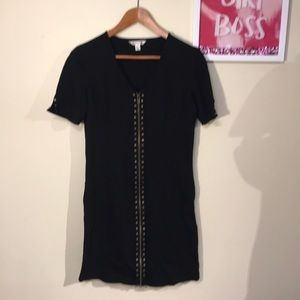 Spanner Ponte Knit Black Dress